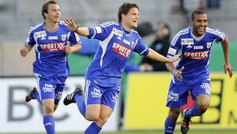 Jocelyn Roux (m.) erzielte das 1:0 für Lausanne.