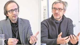 Andreas Sonderegger (links) und Raphael Frei plädieren dafür, dass in der Fahrweid ein dritter Campus der ETH entstehen soll.  Sandra Ardizzone