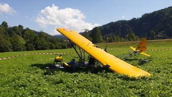 Der Rundflug am Hörnli endete auf einer Wiese: Das Kleinflugzeug hatte einen Konstruktionsfehler, so der Sust-Schlussbericht. Verletzt wurde bei der Notlandung vor einem Jahr niemand.