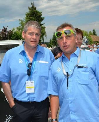 René Huber, OK-Präsident, und Steffen Wesemann, sportlicher Leiter GP des Kantons Aargau