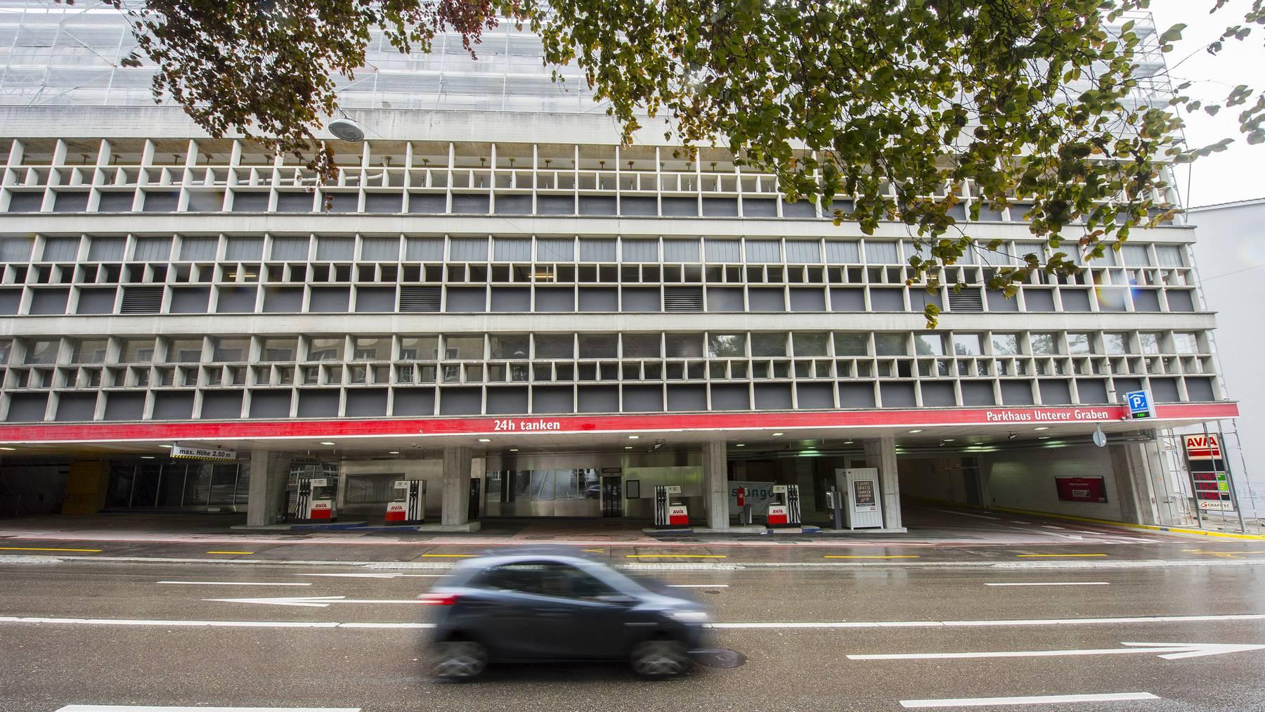 Die Pensionskasse der Stadt St.Gallen investiert in das Parkhaus UG 25. (Archiv)