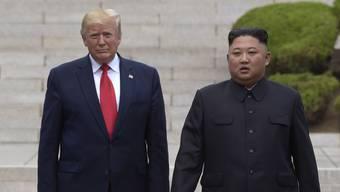 US-Präsident Donald Trump und Nordkorea unter der Führung von Kim Jong Un liefern sich einen neuen Schlagabtausch. (Archivbild)