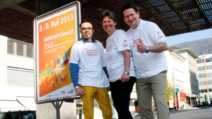 Das OK mit Ralf Graf, Susi Saladin und Gerd Frera freut sich auf ein tolles «grenchen.bewegt».