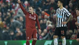 Xherdan Shaqiri traf beim 4:0 von Liverpool gegen Newcastle erneut