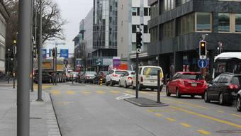 Oft sind auf der Bahnhofstrasse Aarau nur Geschwindigkeiten unter 30km/h möglich, auch weil der Verkehr stockt.