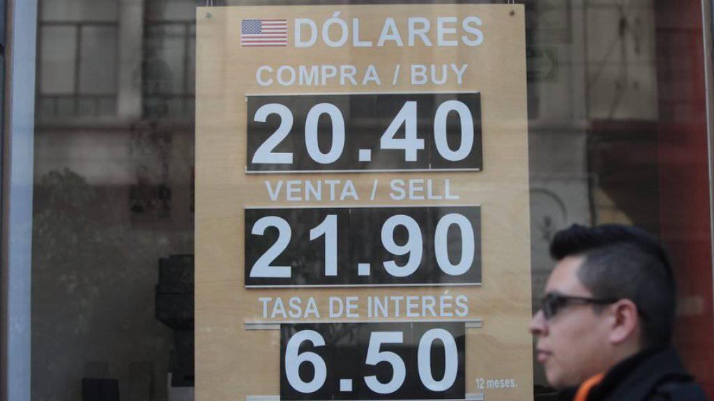 Die mexikanische Zentralbank bestätigt Dollar-Verkäufe, um den Kurs des Peso zu stützen.