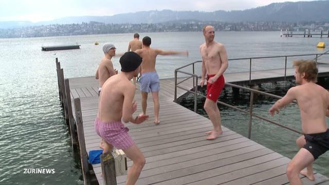 Frost-Bad im Zürichsee? Na klar!