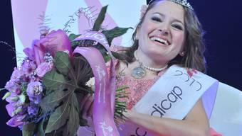 Strahlt nach ihrem Titelgewinn: Jasmin Rechsteiner, Miss Handicap 2010 (Bild: Miss Handicap Organisation)