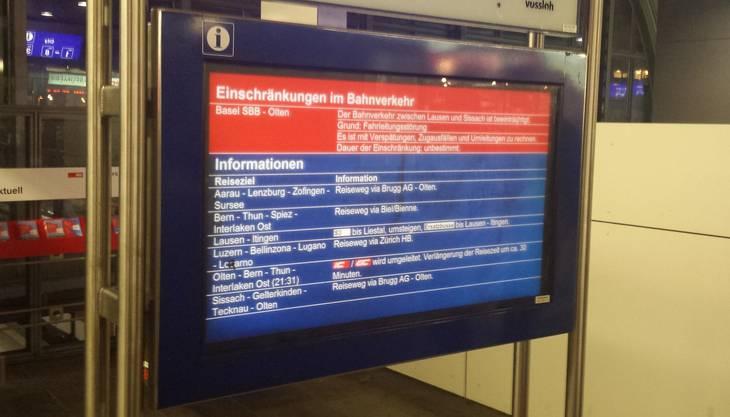 Viele Zugpassagiere sind in Basel gestrandet.