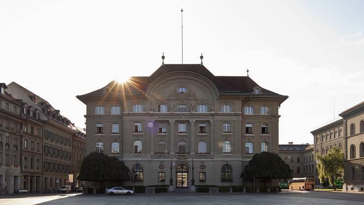 Der Hauptsitz der Schweizerischen Nationalbank in Bern.