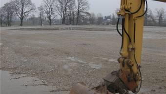 Keine Bauaktivität auf dem Bauplatz der Solar Industries AG. uby