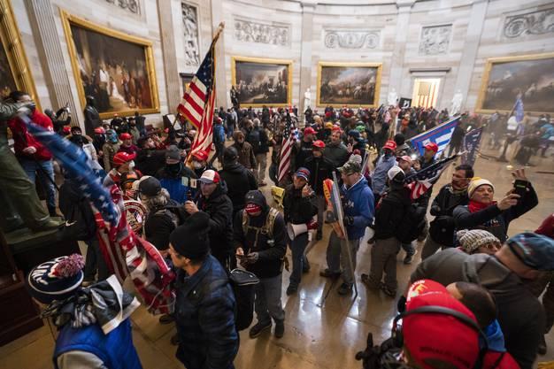 Über 100 Demonstranten haben am Mittwoch das Kapitol gestürmt.