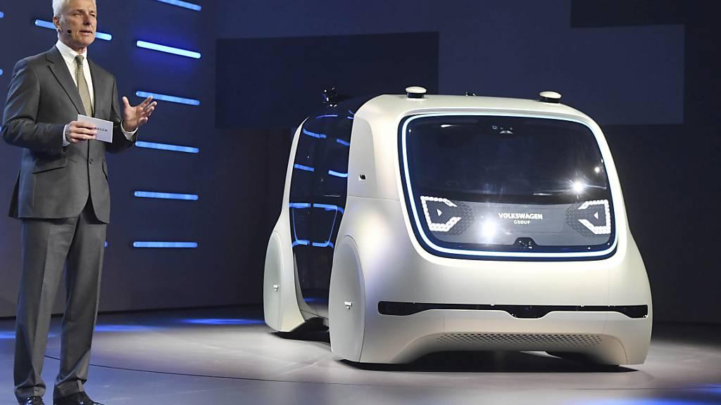 VW treibt autonomes Fahren mit Microsoft voran (Archivbild)