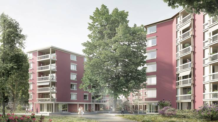 Einer der geplanten Neubauten der Alterswohnsiedlung Espenhof ist für queere Alte reserviert.