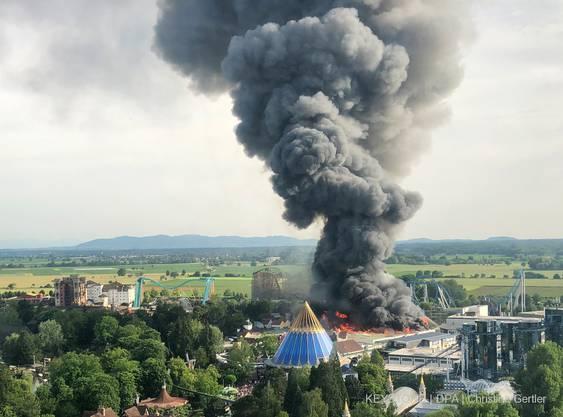 Bilder vom Inferno im Europapark vom Samstag, 26. Mai 2018.