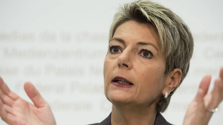 Die Freisinnige St. Galler Ständerätin Karin Keller-Sutter (SG) steht vor der Wiederwahl.