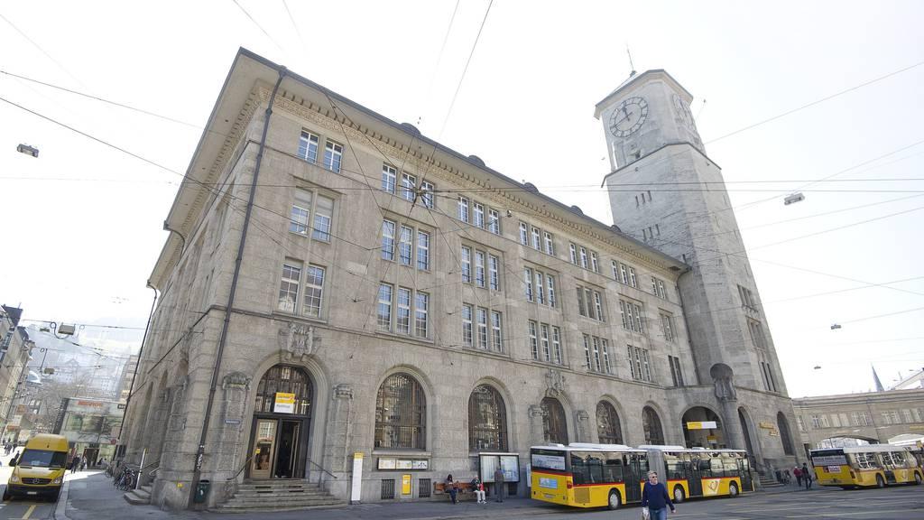 Die Hauptpost in St.Gallen beherbergt ab dem Herbst 2017 angehende Architekten der FHS.