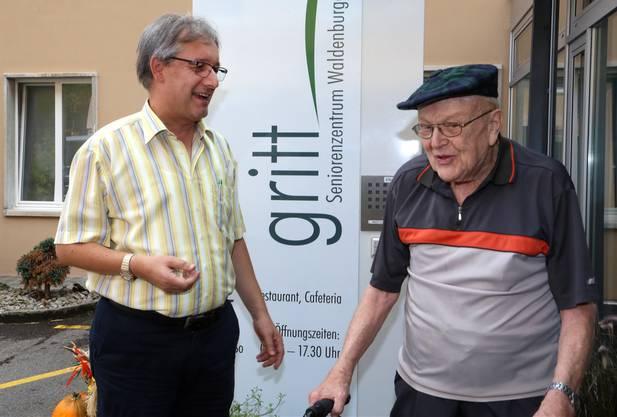 Ernst Dill (links), Zentrumsleiter des «Gritt», fand für das «Exil» auf dem Allerheiligenberg Zustimmung beim Personal und bei den Bewohnern.