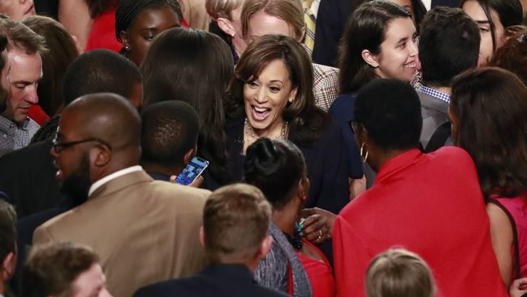 Impressionen der zweiten TV-Debatte der demokratischen US-Präsidentschaftskandidaten.