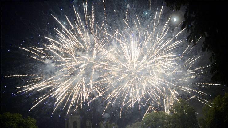 Das Feuerwerk als Höhepunkt.
