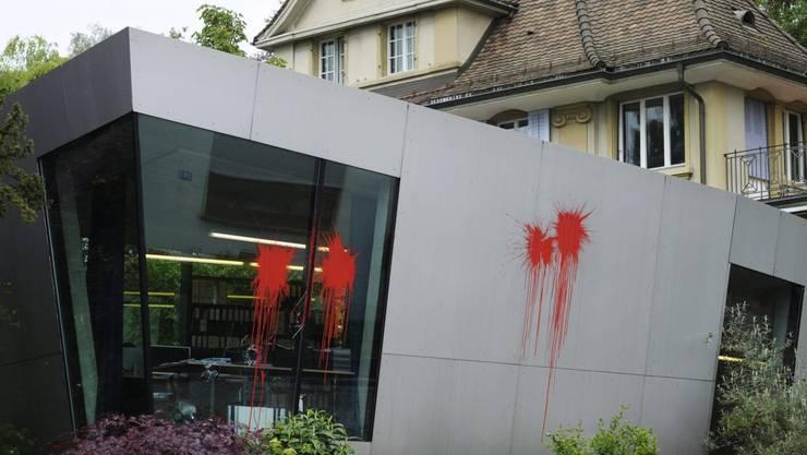 Das war 2011: Bereits damals wurde Gloors Büro von Unbekannten attackiert. Vom aktuellen Angriff auf ihr Büro an der Josefstrasse gibt es keine Bilder. (Archivbild)