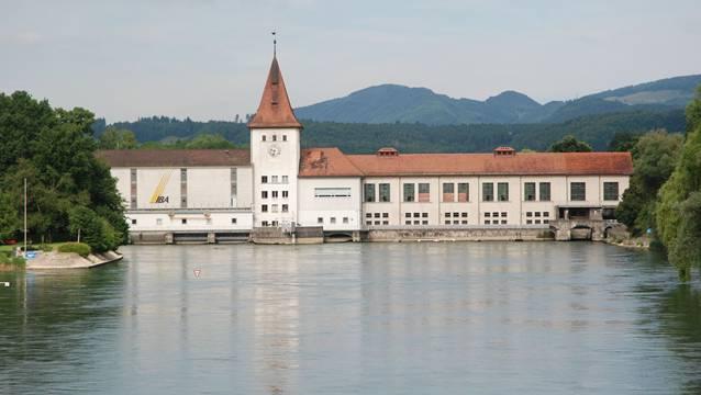 Das Aarekraftwerk Aarau produziert den Stromverbrauch von rund 25'000 Haushaltungen.