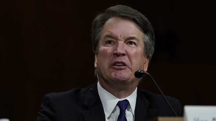 Brett Kavanaugh reagierte auf Fragen der Senatoren zuweilen angriffig.