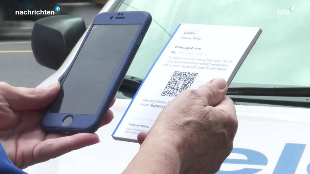 Luzerner Polizei büsst neu via App
