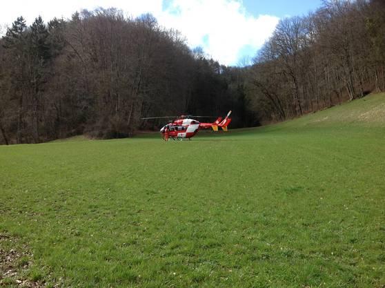 Die Rega musste die 50-jährige Lenkerin ins Spital fliegen. Der mutmassliche Unfallverursacher wurde mit der Ambulanz ins Spital gefahren.