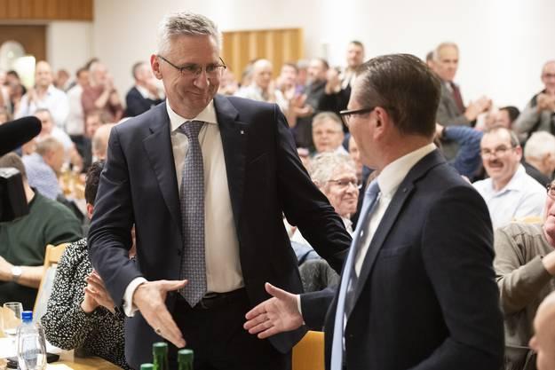 Andreas Glarner holte fast doppelt so viele Stimmen wie Rolf Jäggi.