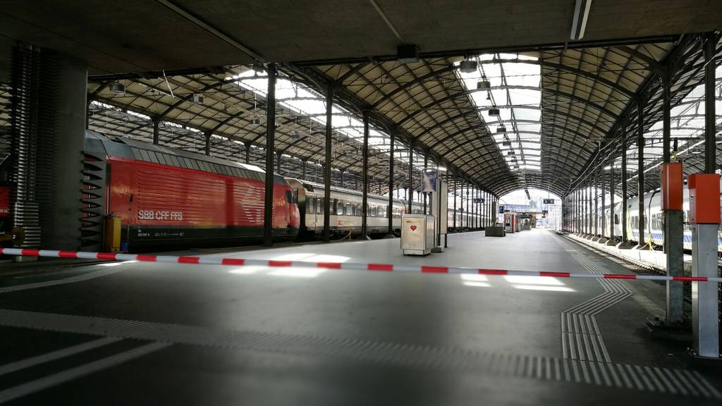 Bahnhof Luzern Zugunfall