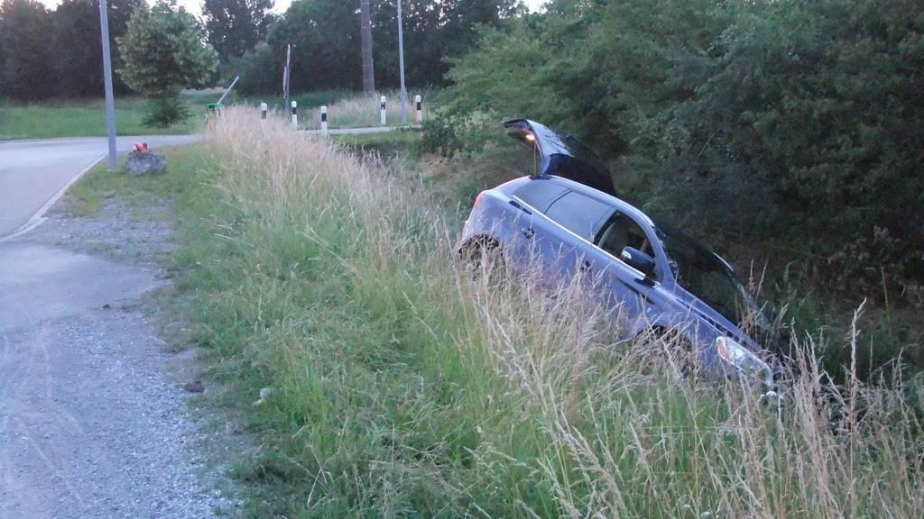 Das Auto blieb trotz Blaufahrt unversehrt.