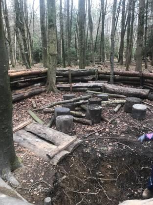 «Einfach nur noch deprimierend»: Demolierter Platz der Waldspielgruppe Müsli in Aarau Rohr.