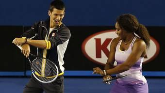 Sind unterschiedlicher Meinung bezüglich der Höhe des Preisgelds: Novak Djokovic und Serena Williams