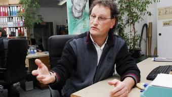 Nationalrat Geri Müller in seinem Büro in Baden.  Angelo Zambelli Nationalrat Geri Müller in seinem Büro in Baden.  Angelo Zambelli