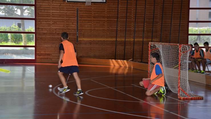 Unihockey in der Halle