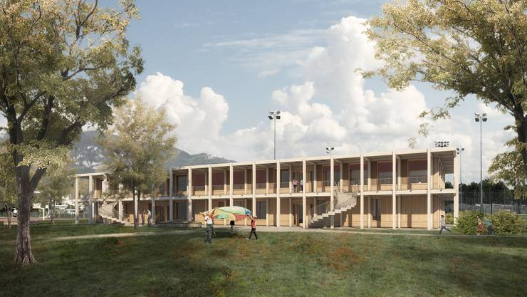 Visualisierung Neubau Brühl Doppelkindergarten/Tagesschule 2019