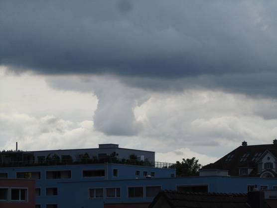 Tornado-Ansatz Blick von Wohlen Richtung Lenzburg