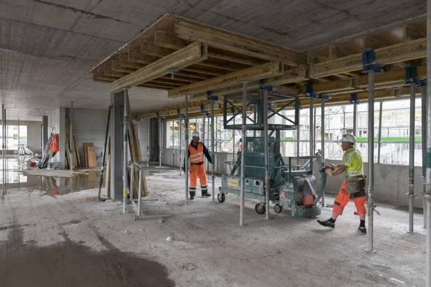 Bauarbeiten im Spital Limmattal
