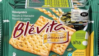 Der Lieferant hat bei einer internen Kontrolle Milchproteine im Blévita-Snack mit Kürbiskernen nachgewiesen. Das Produkt sollte aber lactosefrei sein und wird nun zurückgerufen.
