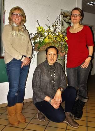 Die 3 neuen Mitglieder Monika Birchmeier, Özlem Karabas, Silke Fischer-Kroesch (von links nach rechts)