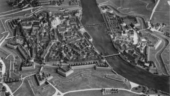 Modell der Stadt Solothurn mit der Stadtbefestigungs-Anlage.