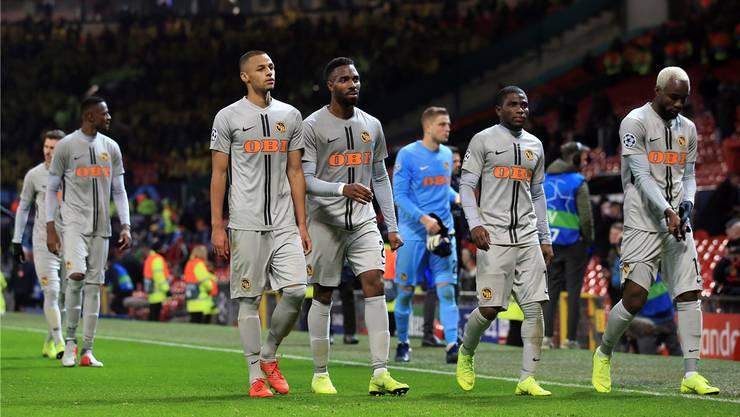 Schweizer Klubfussballer haben – wie hier YB in Manchester – auf der europäischen Bühne zuletzt keine Stricke zerrissen und gingen meist als Verlierer vom Feld.Keystone
