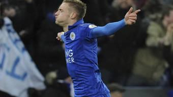 Erlösung nach Wochen des Leidens: Leicesters Doppeltorschütze Jamie Vardy