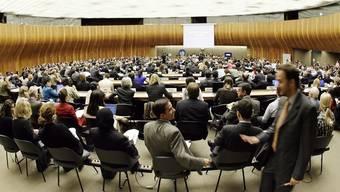 Blick auf eine Sitzung des UNO-Menschenrechtsrats in Genf (Archiv)