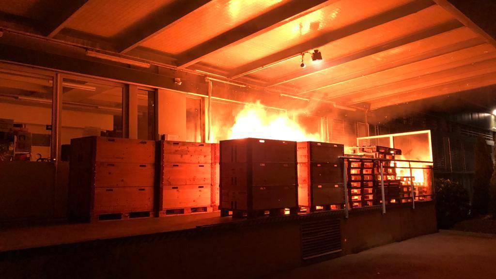 Unbekannte setzen Holzpaletten in Brand – 20'000 Franken Schaden