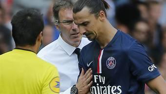 """Niederlage für """"OM"""": Coach Laurent Blanc und Zlatan Ibrahimovic"""