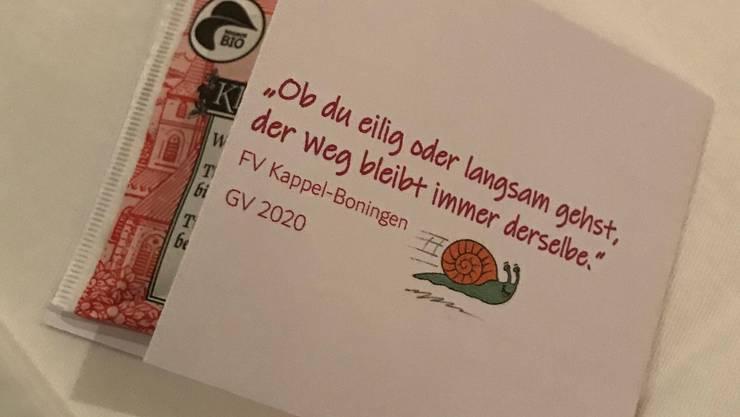 Jahresmotto 2020 des FV Kappel-Boningen