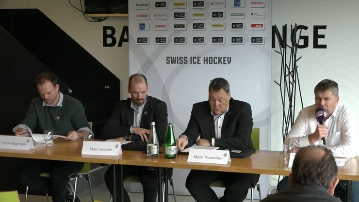 Die Pressekonferenz des EHC Olten