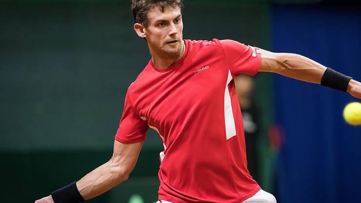 Henri Laaksonen führt das Schweizer Davis-Cup-Team im Duell in Lima gegen Peru am Freitag und Samstag an